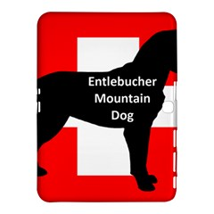 Entlebucher Mt Dog Name Silo On Switzerland Flag Samsung Galaxy Tab 4 (10.1 ) Hardshell Case