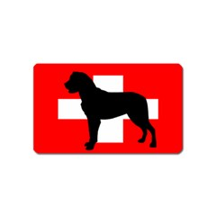 Entlebucher Mt Dog Silo Switzerland Flag Magnet (Name Card)