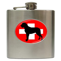 Entlebucher Mt Dog Silo Switzerland Flag Hip Flask (6 oz)