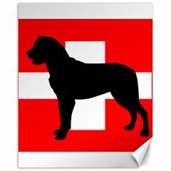 Entlebucher Mt Dog Silo Switzerland Flag Canvas 16  x 20