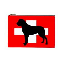 Entlebucher Mt Dog Silo Switzerland Flag Cosmetic Bag (Large)