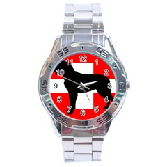 Entlebucher Mt Dog Silo Switzerland Flag Stainless Steel Analogue Watch