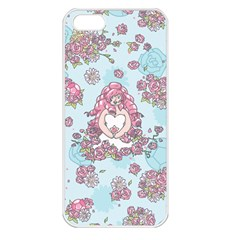 Space Roses Apple iPhone 5 Seamless Case (White)
