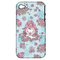 Space Roses Apple iPhone 4/4S Hardshell Case (PC+Silicone)