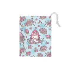 Space Roses Drawstring Pouches (Small)