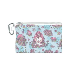 Space Roses Canvas Cosmetic Bag (S)