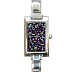 Spring night Rectangle Italian Charm Watch