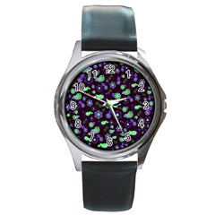 Spring night Round Metal Watch