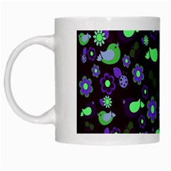 Spring night White Mugs