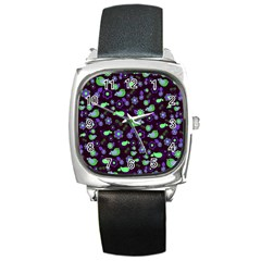 Spring night Square Metal Watch