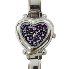 Spring night Heart Italian Charm Watch