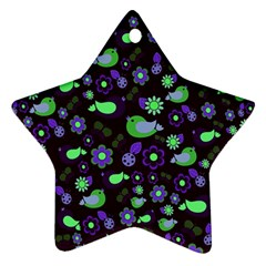 Spring night Star Ornament (Two Sides)