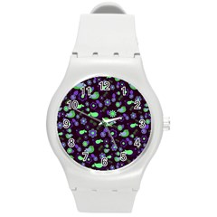 Spring night Round Plastic Sport Watch (M)