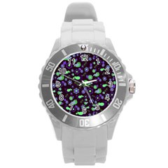 Spring night Round Plastic Sport Watch (L)