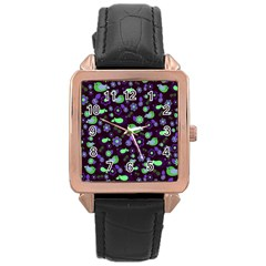 Spring night Rose Gold Leather Watch