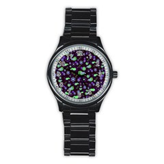 Spring night Stainless Steel Round Watch
