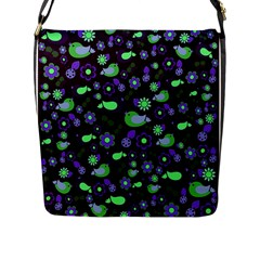 Spring night Flap Messenger Bag (L)
