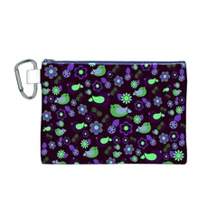 Spring night Canvas Cosmetic Bag (M)