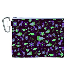 Spring night Canvas Cosmetic Bag (L)