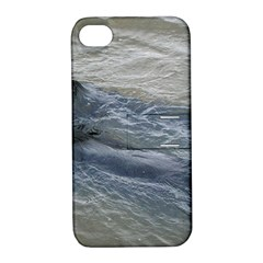 2 Flat Coated Retrievers Swimming Apple iPhone 4/4S Hardshell Case with Stand