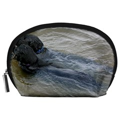 2 Flat Coated Retrievers Swimming Accessory Pouches (Large)