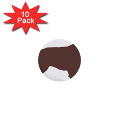 Flat Coated Retriever Silo Color 1  Mini Buttons (10 pack)