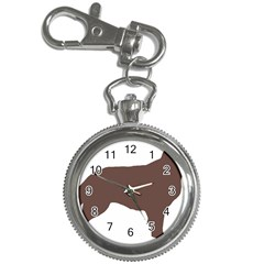 Flat Coated Retriever Silo Color Key Chain Watches