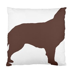 Flat Coated Retriever Silo Color Standard Cushion Case (Two Sides)