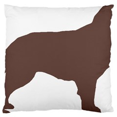 Flat Coated Retriever Silo Color Large Cushion Case (Two Sides)