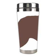 Flat Coated Retriever Silo Color Stainless Steel Travel Tumblers