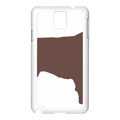 Flat Coated Retriever Silo Color Samsung Galaxy Note 3 N9005 Case (White)