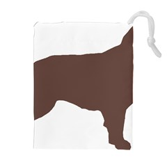 Flat Coated Retriever Silo Color Drawstring Pouches (Extra Large)