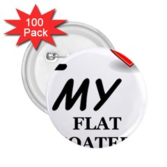 Flat Coated Ret Love 2.25  Buttons (100 pack)