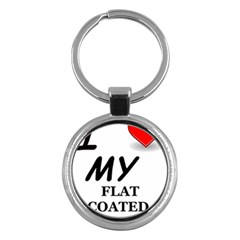 Flat Coated Ret Love Key Chains (Round)