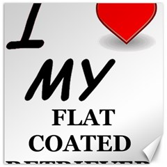 Flat Coated Ret Love Canvas 16  x 16
