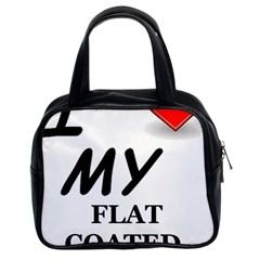 Flat Coated Ret Love Classic Handbags (2 Sides)
