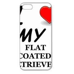 Flat Coated Ret Love Apple Seamless iPhone 5 Case (Clear)