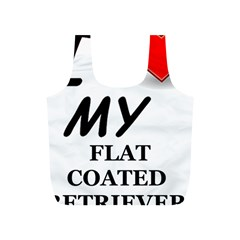 Flat Coated Ret Love Full Print Recycle Bags (S)