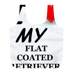 Flat Coated Ret Love Full Print Recycle Bags (L)