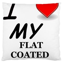 Flat Coated Ret Love Standard Flano Cushion Case (One Side)