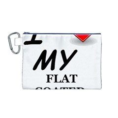 Flat Coated Ret Love Canvas Cosmetic Bag (M)