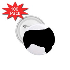 Flat Coated Retriever Silo 1.75  Buttons (100 pack)