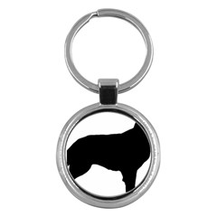 Flat Coated Retriever Silo Key Chains (Round)