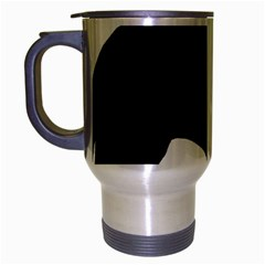 Flat Coated Retriever Silo Travel Mug (Silver Gray)