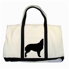 Flat Coated Retriever Silo Two Tone Tote Bag