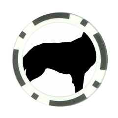 Flat Coated Retriever Silo Poker Chip Card Guard (10 pack)