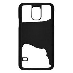 Flat Coated Retriever Silo Samsung Galaxy S5 Case (Black)