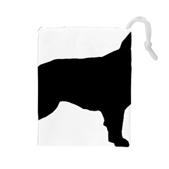 Flat Coated Retriever Silo Drawstring Pouches (Large)