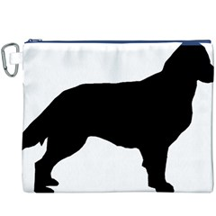Flat Coated Retriever Silo Canvas Cosmetic Bag (XXXL)