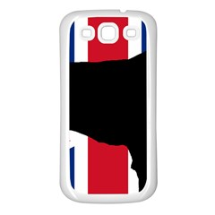 Flat Coated Retriever Silo England United Kingdom Samsung Galaxy S3 Back Case (White)